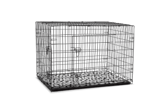 "48"" XL Dog Crate Cage - Black"