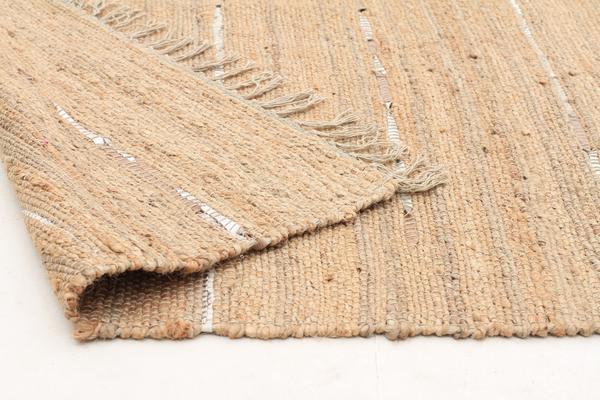 Saville Jute and Leather Rug Natural 400x80cm