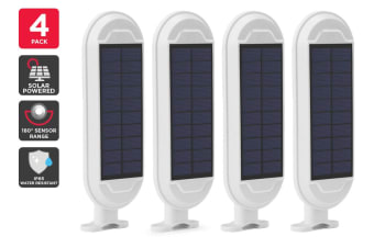4 Pack Solar Wall Mounted Motion Sensor Light (White, Zara)