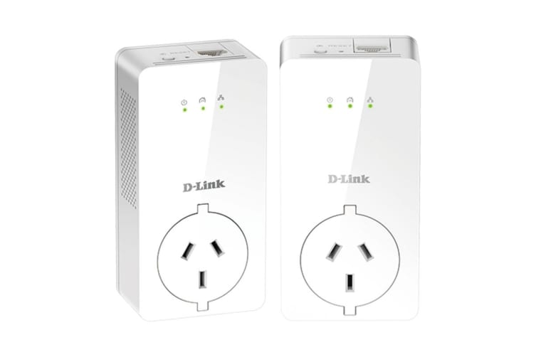 D-Link PowerLine AV2 2000 Gigabit Passthrough Kit (DHP-P701AV)