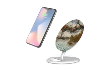 QI Wireless Charger For iPhone 11 Samsung Galaxy S20+ S20 Ultra S10+ Sea Window