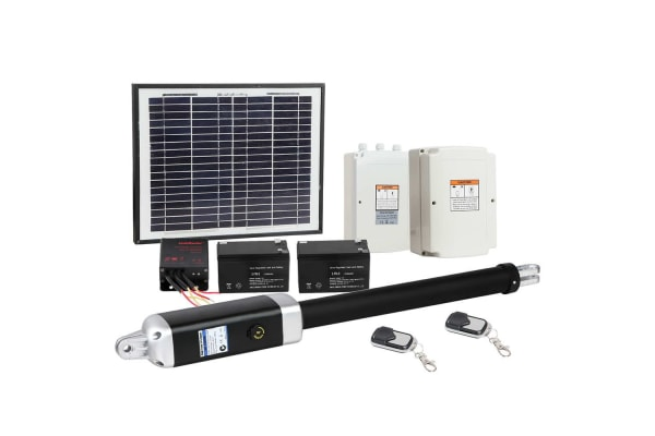 Solar Powered Automatic Swing Gate Opener with 2 Remote Controls