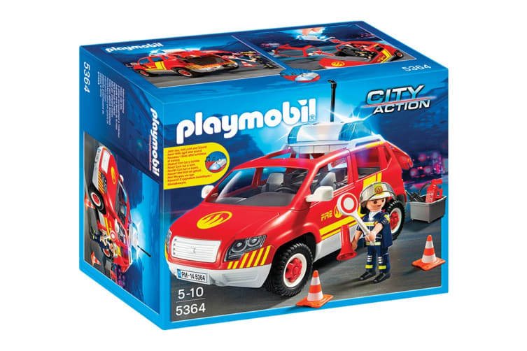 Playmobil City Action Fire Chief´s Car with Lights and Sound