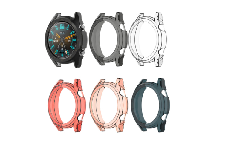Select Mall Compatible Huawei Watch GT Watch Case Soft TPU Protector Case Frame Protective Sleeve Bumper Protection Case-Black - 46mm