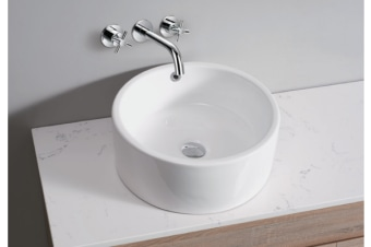 White High Gloss Ceramic Bathroom Sink Basin Above Counter Top (CBR002)