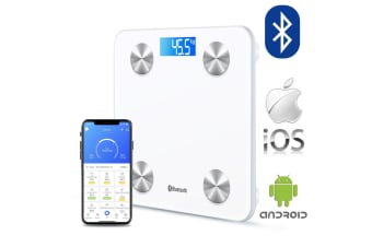 Wireless Digital Bathroom Body Fat Scale 180KG Bluetooth Scales Weight BMI Water white
