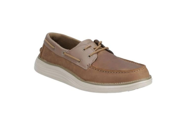 Skechers Mens Leather Lace Up Shoe (Brown) (12 UK)