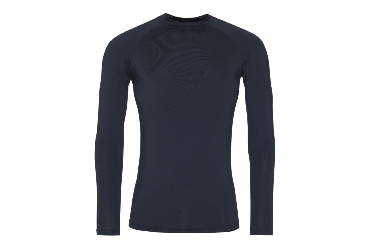 AWDis Just Cool Mens Long Sleeve Baselayer Top (French Navy) (M)