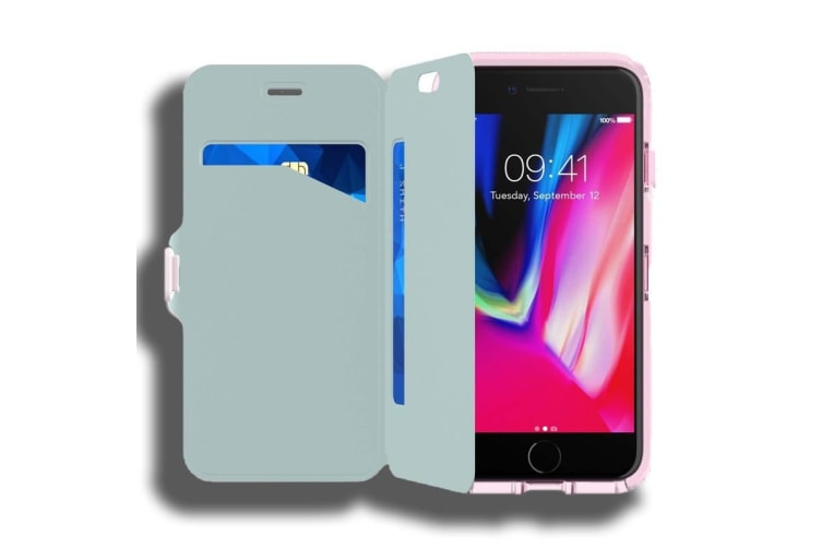 new arrival 79682 a01a8 Tech21 Evo Wallet Case for Apple iPhone 7 Plus / 8 Plus - Pink