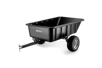 PLANTCRAFT Poly Tow Dump Cart 1000LBS 400L Tray - Quad Garden Tip Trailer ATV
