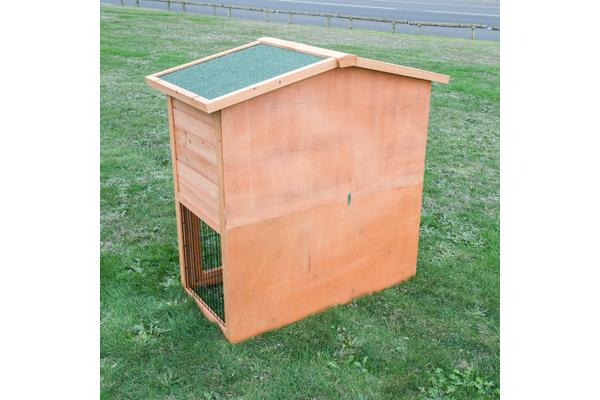 Double Storey Triangular Roof Pet Hutch Coop House