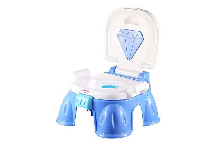 Groovy 3 In 1 Baby Toddler Toilet Trainer Kids Potty Training Safety Music Seat Chair Blue Theyellowbook Wood Chair Design Ideas Theyellowbookinfo