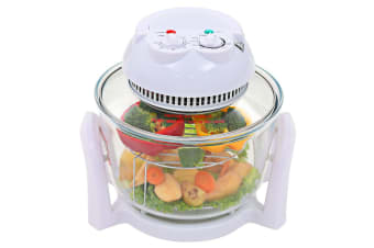 vidaXL Halogen Convection Oven with Extension Ring 800 W 10 L