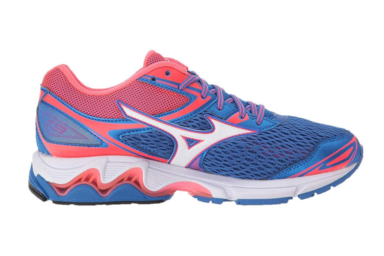 Mizuno Women's WAVE INSPIRE 13 (Blue/White/Diva Pink, Size 6.5 US)