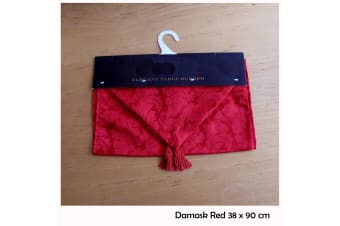 Table Decorative Runner Damask Red