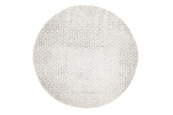 Diamond Grey Transitional Rug 200x200cm