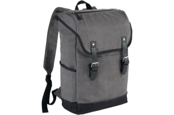 Field & Co. Hudson 15.6in Laptop Backpack (Grey/Solid Black)
