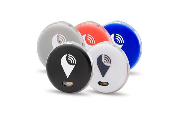 Trackr Pixel Bluetooth Tracker  5 Colour Pack - (Black/White/Silver/Red/Blue)