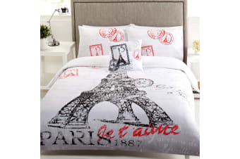 6 Piece Bon Reve Eiffel Tower Bed Pack King