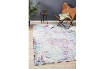 Felicia Blue & Purple Soft Bohemian Rug 290x200cm