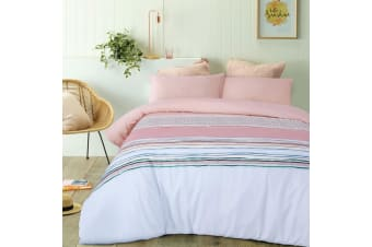 Cora Pink Quilt Cover Set Queen