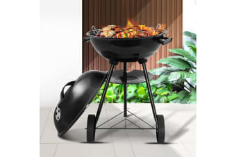 Charcoal BBQ Smoker Grill Outdoor Camping Patio Wood Barbeque Steel