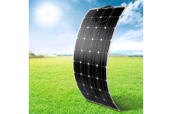 12V 200W Flexible Solar Panel Kit Generator Power Battery Charging Caravan Boat