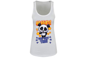 Handa Panda Ladies/Womens You Got This Floaty Tank (White)