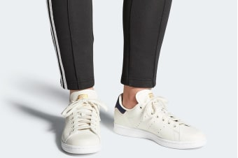 Adidas Originals Unisex Stan Smith Shoes (Chalk White/Collegiate Navy)