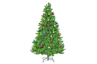 8Ft 240cm Green Xmas Tree - BAUBLES