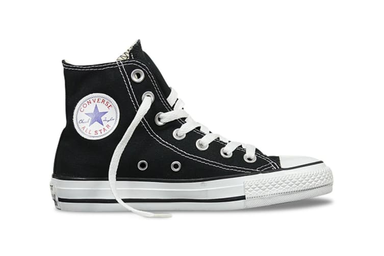 Converse Chuck Taylor All Star Hi (Black, US Mens 8.5 US Womens 10.5)