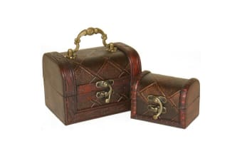 Something Different Diamond Chests (Set Of 2) (Brown)