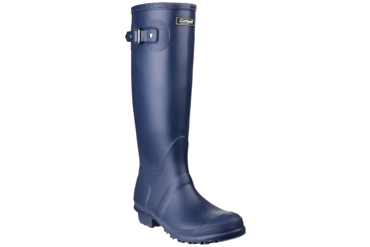 Cotswold Sandringham Buckle-Up Womens Wellington Boots (Navy) (3 UK)