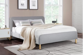 Ovela Bed Frame - Kastellet Collection (Pearl Grey)