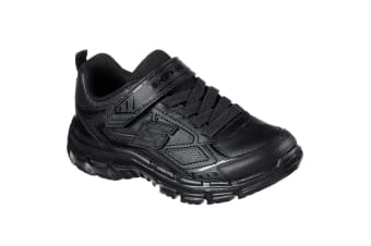 Skechers Childrens/Boys Nitrate Microblast Leather Shoes (Black) (12 Child UK)
