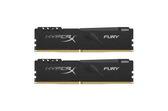 HyperX Fury 16GB RAM (2 x 8GB) DDR4-2666MHz CL16 - Black HX426C16FB3K2/16
