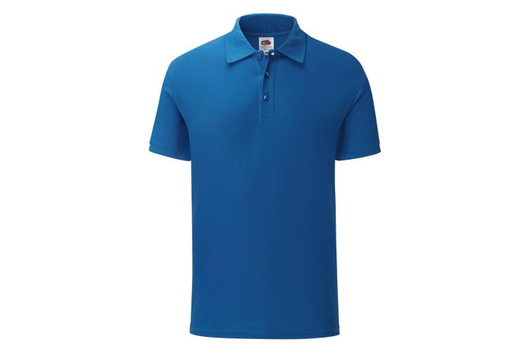 Fruit Of The Loom Mens Tailored Poly/Cotton Piqu Polo Shirt (Royal Blue) (XXL)