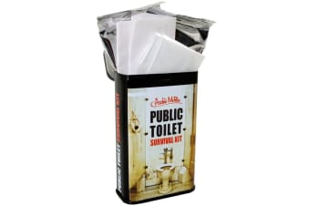 Traveller`s Public Toilet Survival Kit Tin | restroom bathroom loo novelty bath room