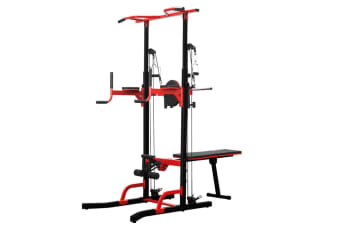 Powertrain Multi Station Home Gym Chin-up Pull-up Power Tower
