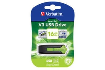 Verbatim 16GB V3 USB3.0 Green Store'n'Go V3; Rectractable