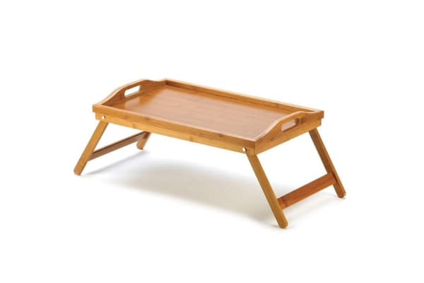 2x Bamboo Folding Tray Lap