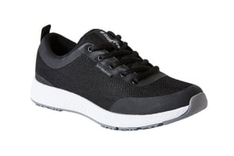 King Gee Women's Superlite Mesh Lace Shoe (Black, Size 9.5)