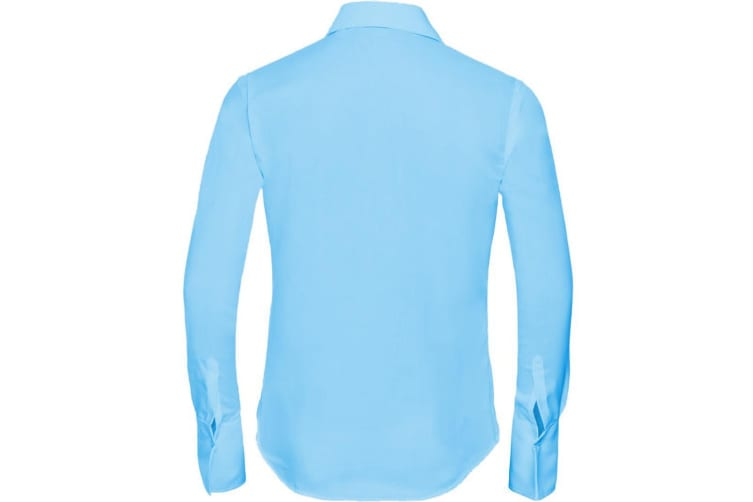 Russell Collection Ladies/Womens Long Sleeve Ultimate Non-Iron Shirt (Bright Sky) (4XL)
