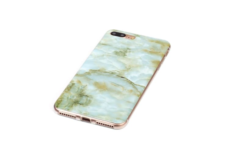 For iPhone 8 PLUS 7 PLUS Case Stylish Marbled Grippy Protective Cover Green