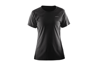 Craft Womens/Ladies Prime Lightweight Moisture Wicking Sports T-Shirt (Black)