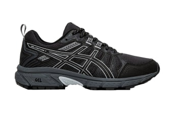 ASICS Women's Gel-Venture 7 Running Shoe (Black/Piedmont Grey, Size 9.5 US)