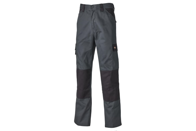 Dickies Mens Everyday Durable Cargo Pocket Work Trousers (Grey/ Black) (34T)
