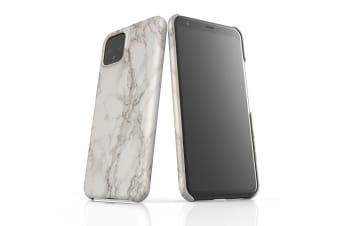 For Google Pixel 4 Snap Case Lightweight Protective Unique Cover Marble White