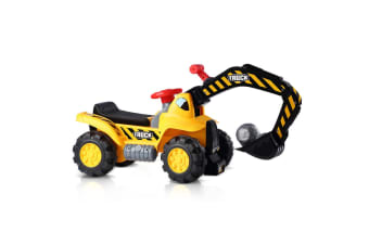 Kids Ride On Excavator Digger Scooter Tractor Toys