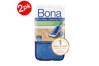 2PK Bona Microfibre Cleaning Pad for Mop Floor Cleaning Washable/Reusable